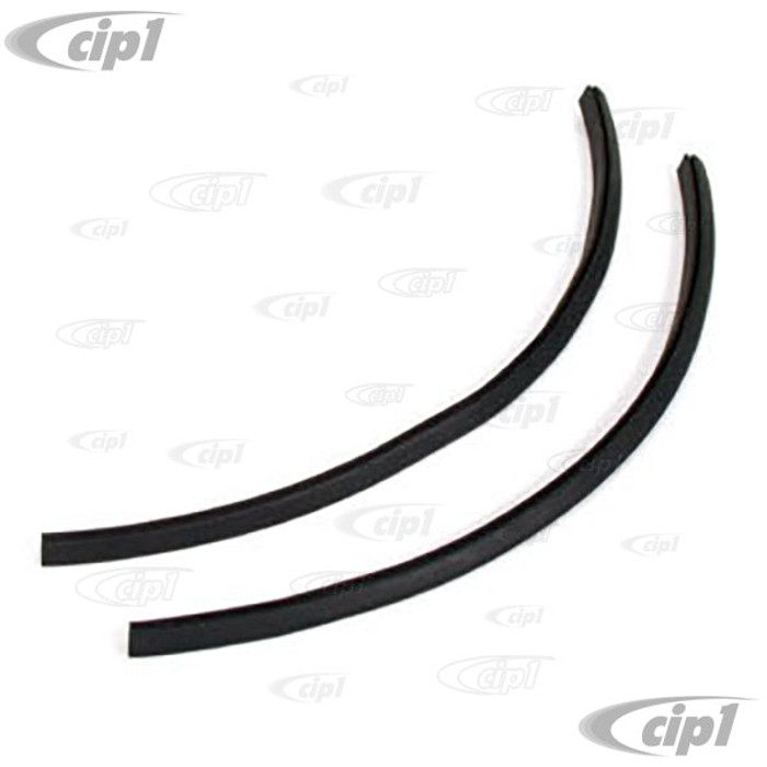 C16-211-629 - (211-837-629 211837629) - PAIR OF VENT WINDOW FLAP SEALS - FIT LEFT AND RIGHT - BUS 53-67  - SOLD PAIR