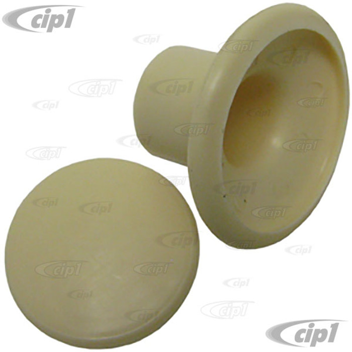 C16-255-8639-IV - (221-857-629A 221857629A) - IVORY ROUND COAT HOOK & COVER - HANGER (ASSIST) - BUS 64-79 - VANAGON 80-91 - SOLD EACH