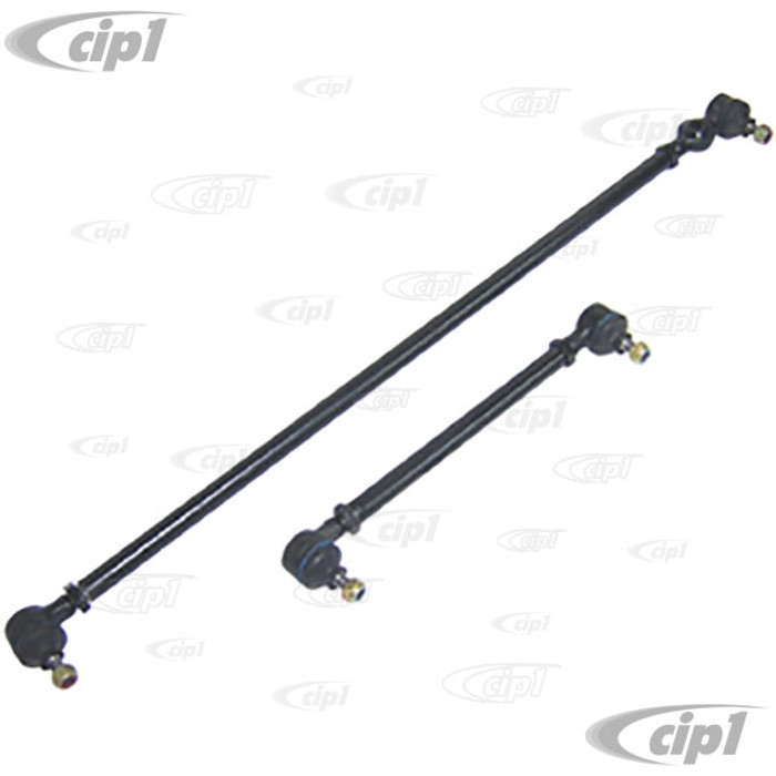 C18-4048 - NARROWED TIE-ROD SET - FOR 2 INCH NARROWED FRONT BEAM - BEETLE/GHIA 46-68 - 2 COMPLETE TIE-RODS WITH ENDS