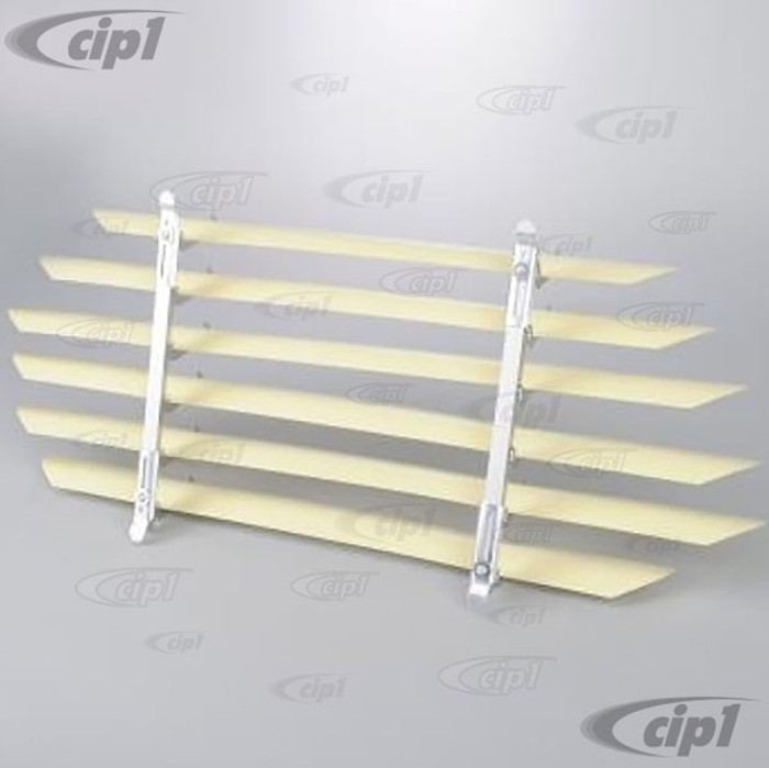 C21-0348 - VINTAGE STYLE ACCESSORY REAR WINDOW INTERIOR BLINDS/LOUVER SET - FITS INSIDE CAR (ASSEMBLY REQUIRED) - BEETLE SEDAN 53-57 - SOLD EACH