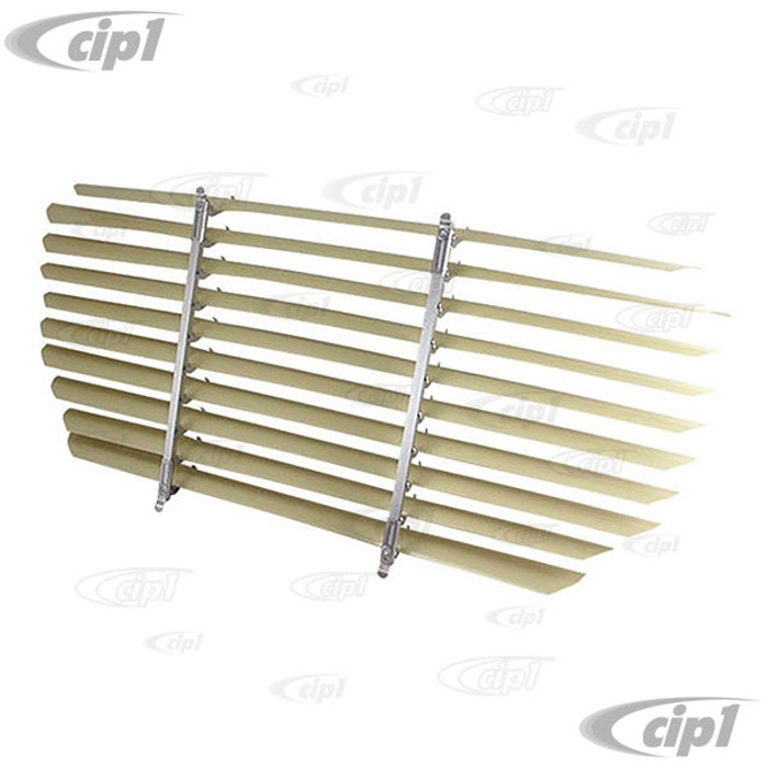 C21-0348-140 - VINTAGE STYLE ACCESSORY REAR WINDOW INTERIOR BLINDS/LOUVER SET - FITS INSIDE CAR (ASSEMBLY REQUIRED) - GHIA SEDAN 52-74 - SOLD EACH