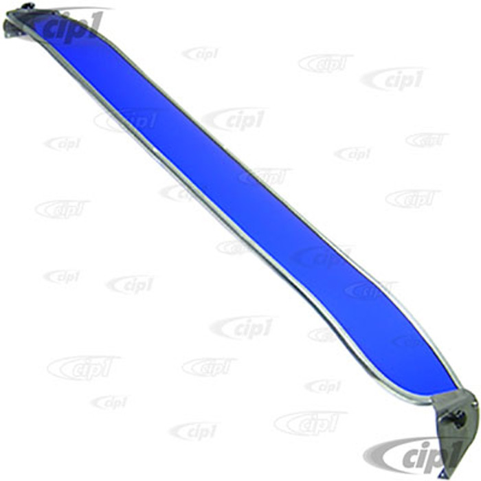 C21-0486-250 - VINTAGE STYLE BLUE TINTED SUNVISOR - 80-92 VANAGON - WITH MOUNTING HARDWARE - (A20)