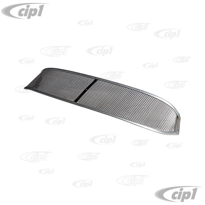 C21-0486-300 - AUSTRALIAN STYLE MESH SUNVISOR - ALL TYPE-1 BEETLE - WITH 6 MOUNTING SCREWS (NON-POLISHED EDGE/RAW FINISH) - SOLD EACH
