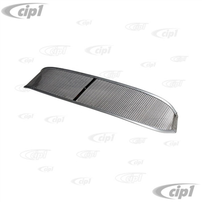 C21-0486-320 - AUSTRALIAN STYLE MESH SUNVISOR - 68-79 BUS - WITH 6 MOUNTING SCREWS (NON-POLISHED EDGE/RAW FINISH) - SOLD EACH