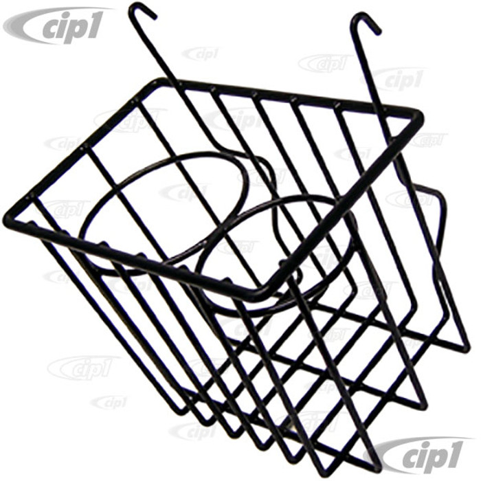 C21-0549-02 - STOW AWAY BASKET AND CUP HOLDER - CLIPS ONTO DASH - BUS 52-67 - BLACK