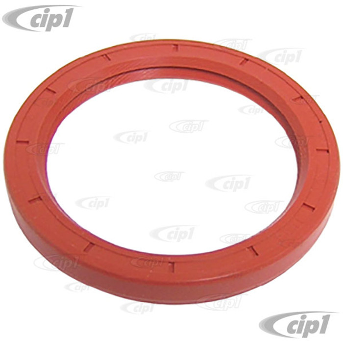 C21-1638 - (113105245F 113-105-245-F) EXCELLENT QUALITY - DOUBLE LIP RED SILICONE FLYWHEEL SEAL (REAR MAIN) - ALL 40HP 12-1600CC BEETLE STYLE ENGINES - SOLD EACH