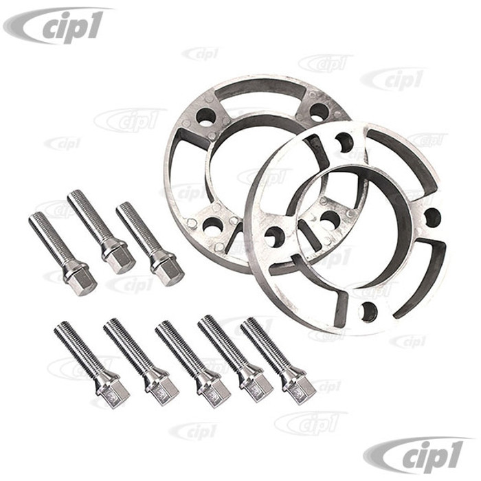 C21-2529-1 - 4-LUG 130MM WHEEL SPACERS - 25 MM (1 INCH) THICK - INCLUDES 60% ACORN BOLTS 14MM X 50MM (2 INCH) LONG - SUITABLE FOR MOST CUSTOM ALUMINUM WHEELS - SOLD SET OF 2 SPACERS WITH 8 BOLTS