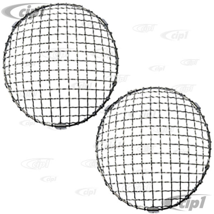 C23-108-012 - CLIP-ON - EUROPEAN STYLE HEADLIGHT MESH GRILL COVERS - 64-67 911/912 - SOLD PAIR