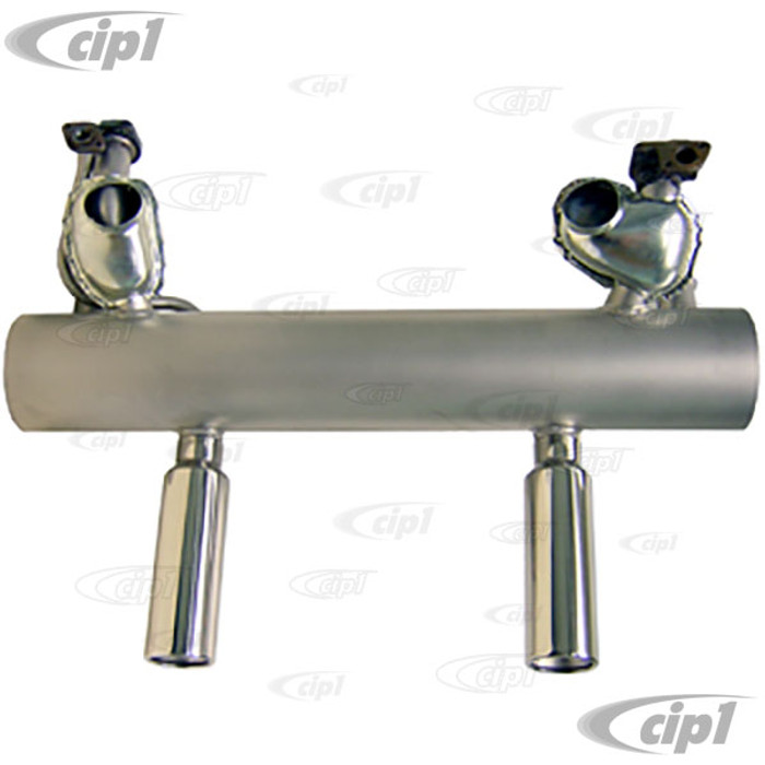 C23-35173S - SEBRING STAINLESS STEEL (PERFECT FIT) SPORTS EXHAUST - 12/62-65 BEETLE/GHIA 1200CC - (A30)