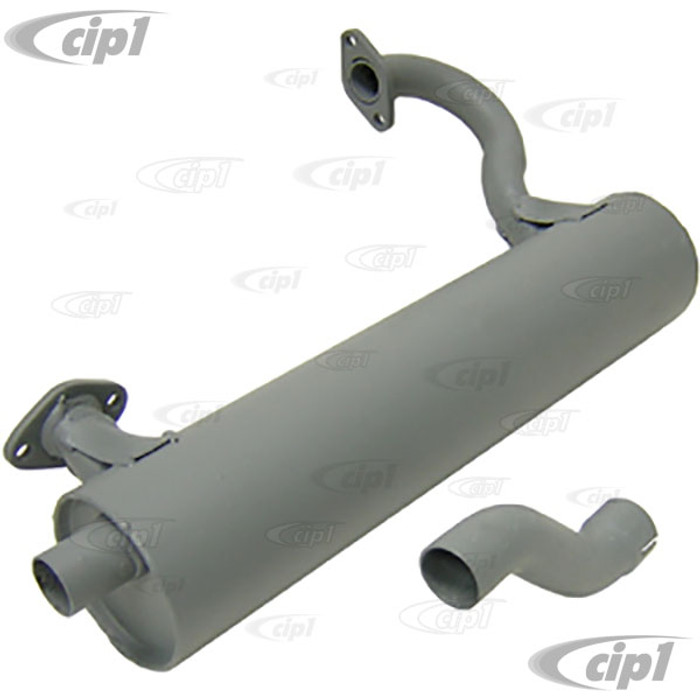 C23-35182 - MUFFLER WITH TAIL PIPE - RIGHT SIDE - ELIMINATES HEATER BOX - 73-74 THING - (A10)