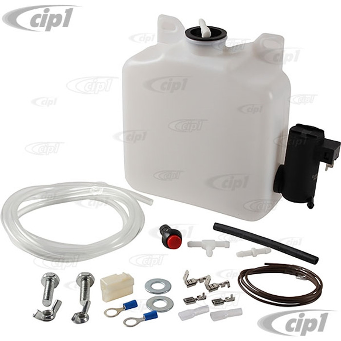C23-980-001 - (111-998-001 111998001 EMPI 15-2060) WINDSHIELD WASHER TANK/BOTTLE KIT WITH 12-VOLT ELECTRIC PUMP (UNIVERSAL FIT) - SOLD KIT