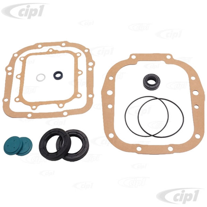 C24-091-398-005-AC - (091398005A) GERMAN MADE - DELUXE MANUAL TRANSMISSION GASKET SET WITH SEALS - BUS 76-79 / VANAGON 80-83 - SOLD SET