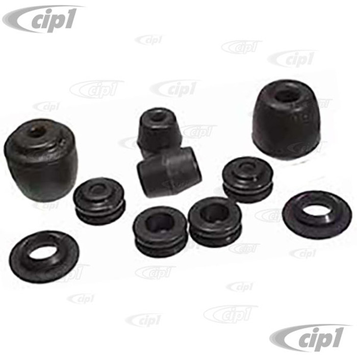 C24-111-598-001 - 10 PIECE Z-BAR BUSHING KIT - BEETLE 67-68 - GHIA 1967 - COMPLETE KIT DOES BOTH SIDES (TUBE SPACERS NOT INCLUDED)