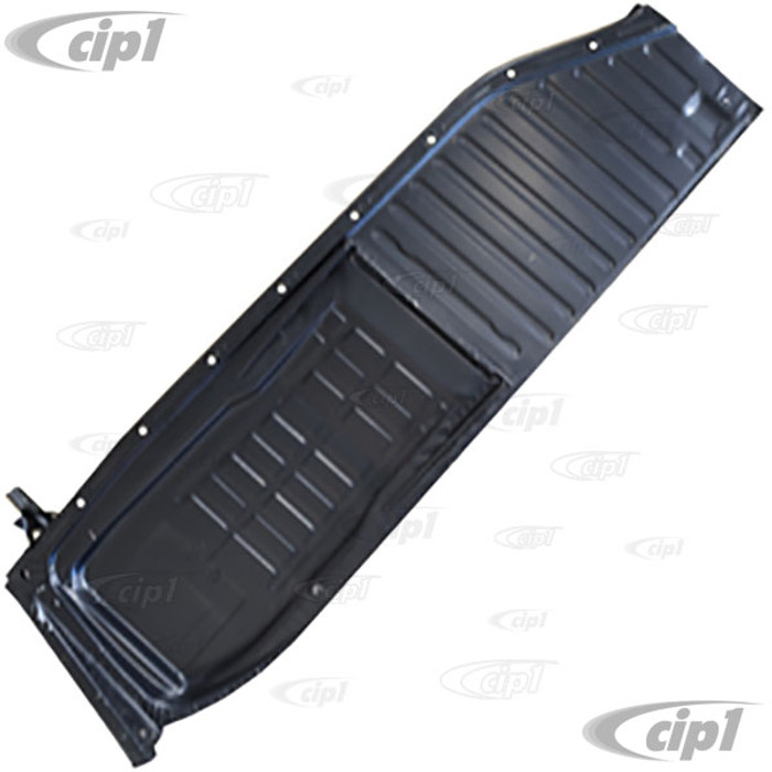 C24-111-701-061-M - IGP BRAND - GOOD QUALITY LEFT SIDE FLOOR PAN HALF - .85MM THICK 14.1 LBS - COMPLETE WITH SEAT TRACKS WELDED - BEETLE 46-70 - (A40)
