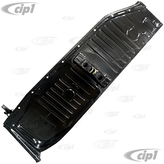 C24-111-701-061-QHD - DANSK HEAVY DUTY PREMIUM LEFT SIDE FLOOR PAN HALF - 1.2MM THICK 20 LBS - COMPLETE WITH PEDESTAL AND SEAT TRACKS WELDED - BEETLE 73-79 - (A40)