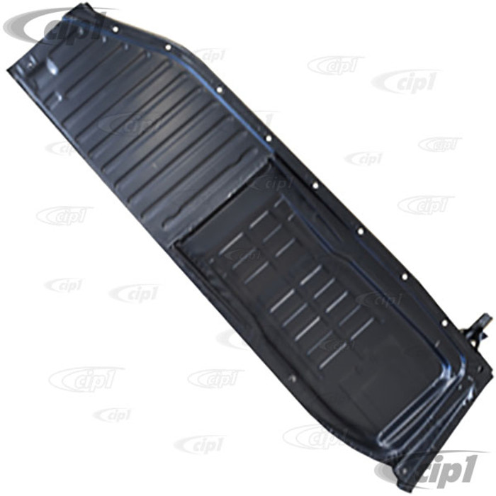 C24-111-701-062-M - IGP BRAND - GOOD QUALITY RIGHT SIDE FLOOR PAN HALF - .85MM THICK 14.1 LBS - COMPLETE WITH SEAT TRACKS WELDED - BEETLE 46-70 - (A40)