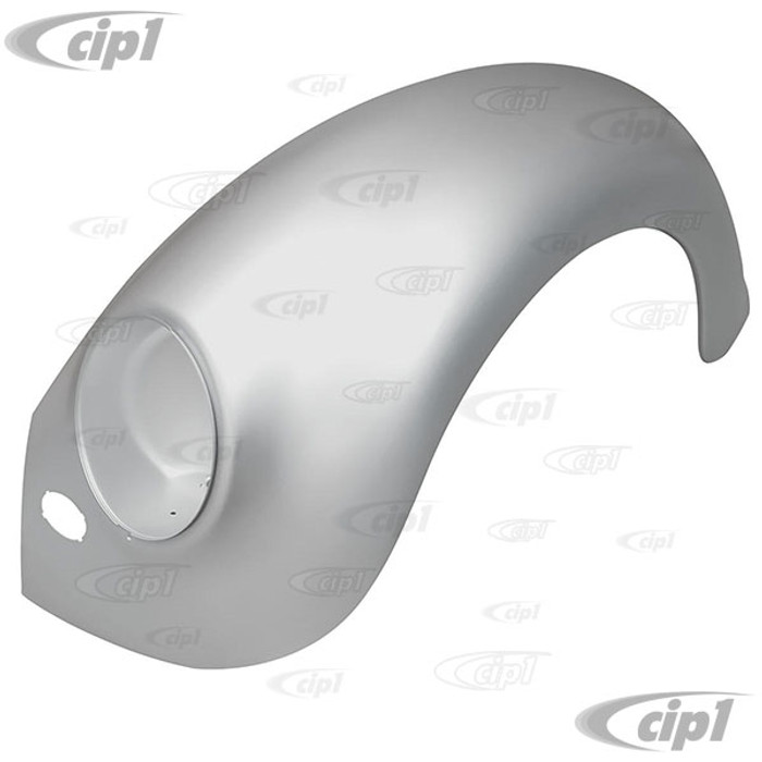 C24-111-821-021-C - (111821021C) EXCELLENT BBT REPRODUCTION - LEFT FRONT FENDER WITH HORN GRILL CUT-OUT (EXPERTLY PRE-PACKAGED FOR SHIPPING) BEETLE 53-59 - SOLD EACH