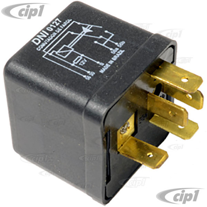 C24-111-941-583 - (111941583) TOP QUALITY - BRAND MY VARY - HEADLIGHT DIMMER RELAY 12 VOLT 5 PRONG - BEETLE 67-79 / GHIA 67-74 / BUS 68-79 - SOLD EACH