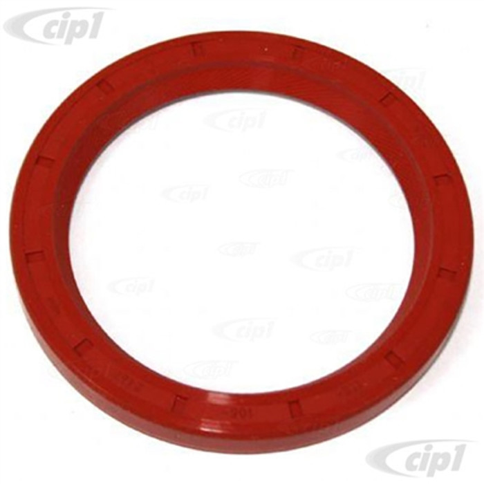 C24-113-105-245-FS - (113105245F) GENUINE ELRING - HIGHEST QUALITY - RED SILICON FLYWHEEL SEAL (REAR MAIN) - ALL 40HP 12-1600CC BEETLE STYLE ENGINES - SOLD EACH