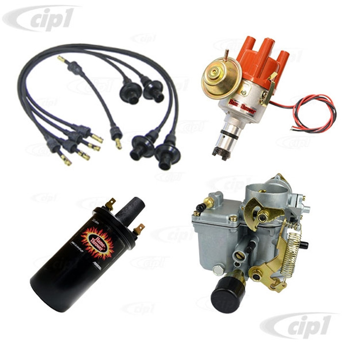 C24-113-129-031-KKIT - SUPER PACKAGE - 34 PICT-3 CARBURETOR WITH 12V CHOKE - PERTRONIX IGNITOR DISTRIBUTOR/COIL/WIRE SET - BEETLE/GHIA/BUS WITH 1600CC DUAL PORT - SOLD EACH