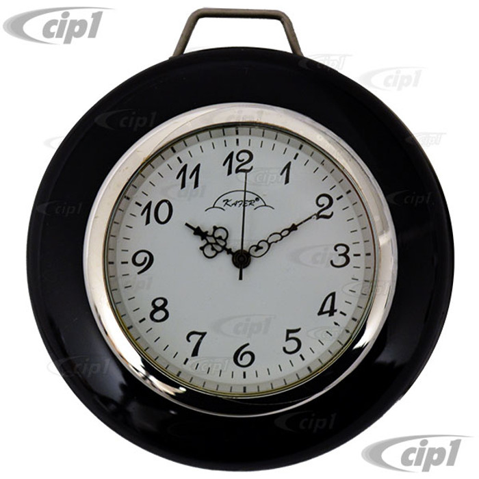 C24-113-415-CLOCK - HORN BUTTON WITH BUILT-IN CLOCK (WITH WHITE FACE) - FOR STOCK STEERING WHEEL - BEETLE 60-71 - GHIA 60-71 - TYPE 3 62-71 - SOLD EACH