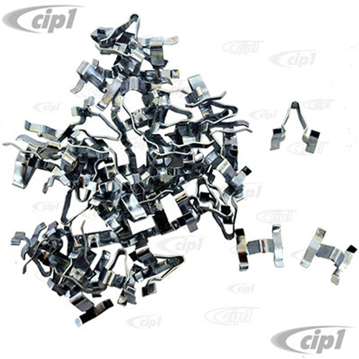 C24-113-853-585-B36 - (113853585B) EXCELLENT QUALITY GERMAN MADE - BAG OF 36 METAL BODY MOLDING CLIPS (WILL DO 1 CAR) - BEETLE 46-66/TYPE-3 62-66 - SOLD BAG OF 36