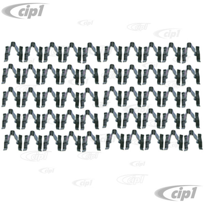 C24-113-853-585-B50 - (113853585B) EXCELLENT QUALITY GERMAN MADE - BAG OF 50 METAL BODY MOLDING CLIPS (WILL DO 1 CAR) - BEETLE 46-66/TYPE-3 62-66 - SOLD BAG OF 50