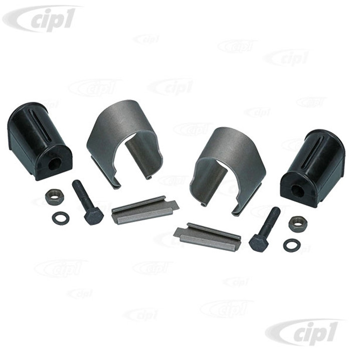 C24-211-498-101-A - (211498101A) GERMAN QUALITY - COMPLETE SWAY BAR MOUNTING/CLAMP KIT - BUS 68-79 - DOES BOTH SIDES - SOLD SET