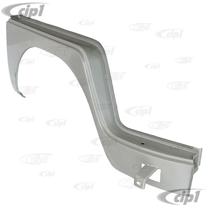 C24-211-809-502 - (211809502) SILVER WELD-THROUGH HIGH QUALITY SHEET METAL - COMPLETE FRONT WHEEL ARCH DOG LEG UNDER DOOR - RIGHT - BUS 52-62 - SOLD EACH