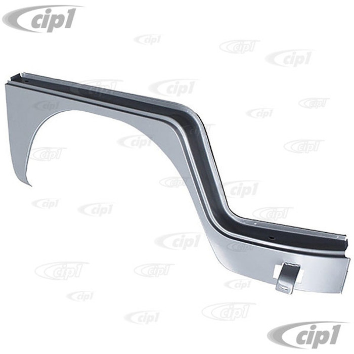 C24-211-809-502-A - (211809502A) SILVER WELD-THROUGH HIGH QUALITY SHEET METAL - COMPLETE FRONT WHEEL ARCH DOG LEG UNDER DOOR - RIGHT - BUS 63-67 - SOLD EACH