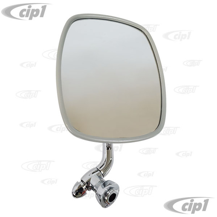 C24-211-857-513-F - (211857513F) POLISHED STAINLESS STEEL OUTSIDE DOOR MIRROR - LEFT - BUS 68-79 - SOLD EACH