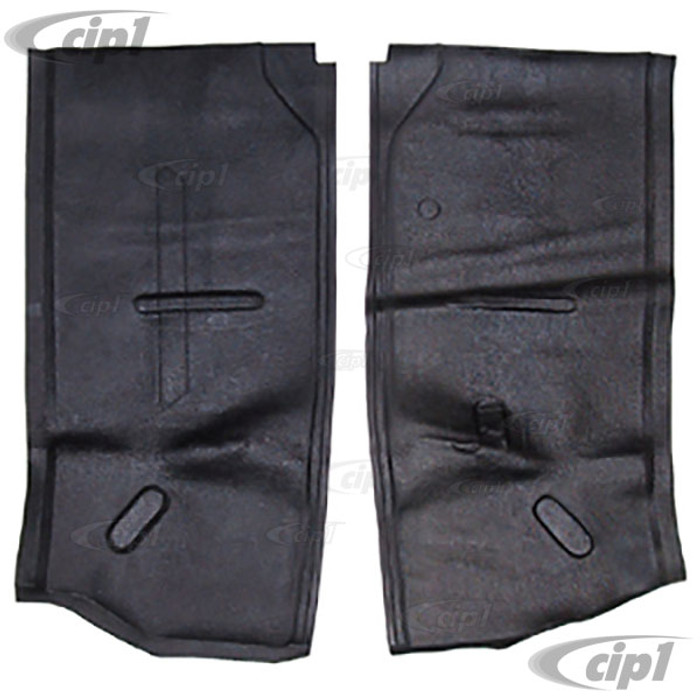C24-234-863-665-BBK - (234863665B) SEAT STAND RUBBER MAT SET - BLACK – FOR LEFT AND RIGHT SEATS – BUS 63-67 (SEE NOTES ABOUT COLOR) - SOLD PAIR
