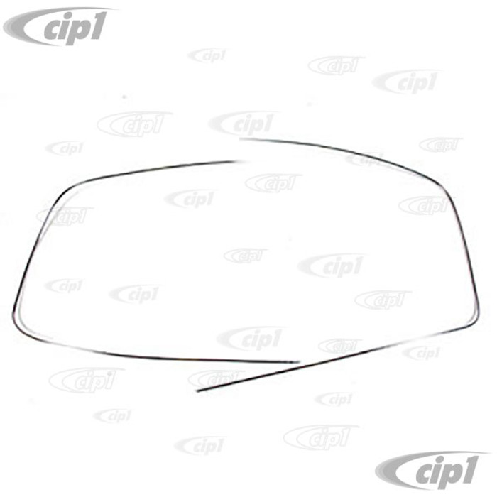 C24-241-853-305 - CHROME WINDSHIELD MOLDING BUS 68-79 - SECURING CLIPS SOLD SEPARATELY - 2 CLIPS REQUIRED