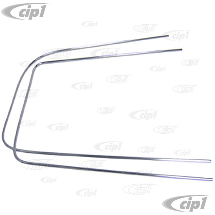 C24-241-853-353 - CHROME MOLDING FOR LEFT REAR SIDE WINDOW (WITHOUT VENT) - BUS 68-79- SECURING CLIPS SOLD SEPARATELY - 2 CLIPS REQUIRED