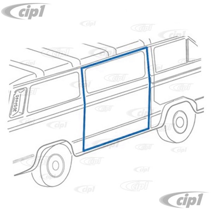 C24-251-843-792-B - (251843792B) EXCELLENT QUALITY - RIGHT SIDE SLIDING SIDE CARGO DOOR SEAL - VANAGON 80-91 - SOLD EACH