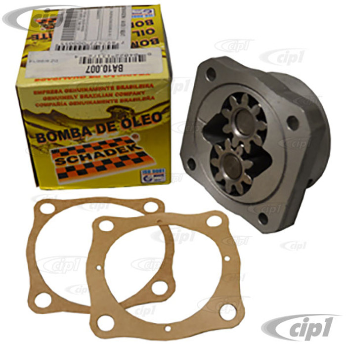 C24-311-115-107-KHD - SCHADEK OR BROSOL BRAND OIL PUMP - H-D 26MM GEARS 6MM HOLES - FITS 25-36-40HP 12-1500CC - BEETLE/GHIA/BUS/TYPE-3 (MODIFICATION MAY BE REQUIRED-READ SPECIAL NOTE) - SOLD EACH