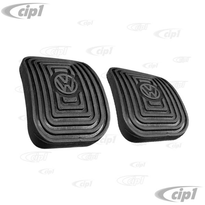 C24-311-721-173-AGR2 - (311721173A) - TOP QUALITY - BRAKE & CLUTCH PEDAL PADS - BEETLE 46-79 - GHIA 56-74 - BUS 55-67 - TYPE 3 62-74 - VANAGON 80-91 - VW THING - SOLD PAIR