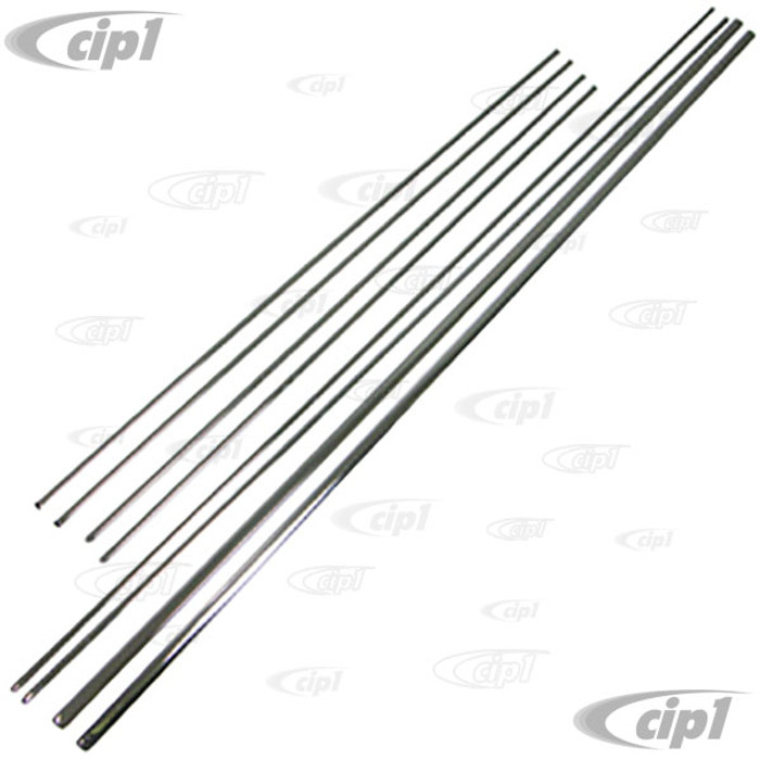C24-311-898-111-BS - STAINLESS STEEL 67-69 TYPE-3 MOLDING KIT WITHOUT SIDE MARKER - USA MODELS - (A15)