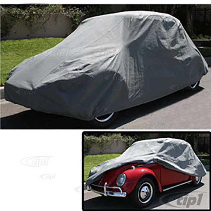 C26-100-050 - DELUXE ALL WEATHER 3-LAYER CUSTOM FITTED CAR COVER (WITH W/STRAPS AND BAG) - ALL BEETLES 46-77 -INCLUDING 71-77 SUPER BEETLE SEDAN (NOT CONVERTIBLE) - SOLD EACH