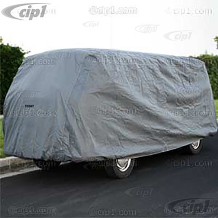 C26-100-060 - SILVER PREMIUM WATERPROOF FITTED CAR COVER - WITH STORAGE BAG - BUS 52-79 (NOT WESTFALIA) - SOLD EACH