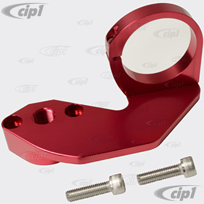 C26-127-013RD - (18-1090) RED ANODIZED - BILLET ALUMINUM COMBO FUEL PUMP BLOCK-OFF - COIL MOUNT - ALL 1600CC STYLE ENGINES - SOLD EACH