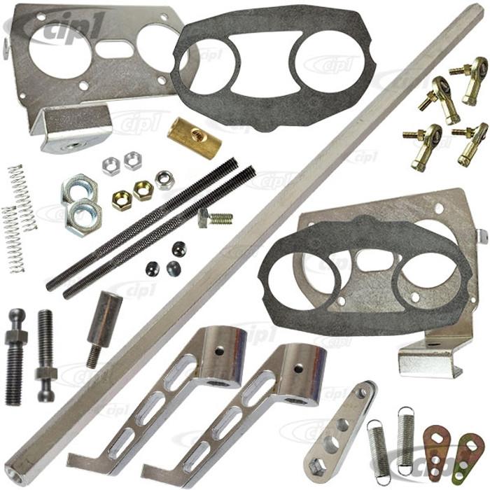 C26-129-690 - HEXBAR LINKAGE KIT FOR HPMX/IDF WEBER STYLE FOR OFFSET STYLE MANIFOLDS - BEETLE STYLE ENGINES - SOLD KIT