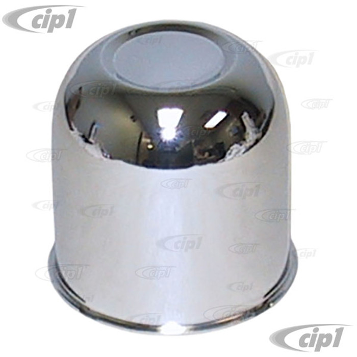 C26-601-590 - CHROME CENTER CAP FOR 4 BOLT STEEL WHITE SPOKE AND CHROME SPOKE OFF-ROAD WHEELS WITH 3-1/4 INCH (82.5MM) HOLE - SOLD EACH