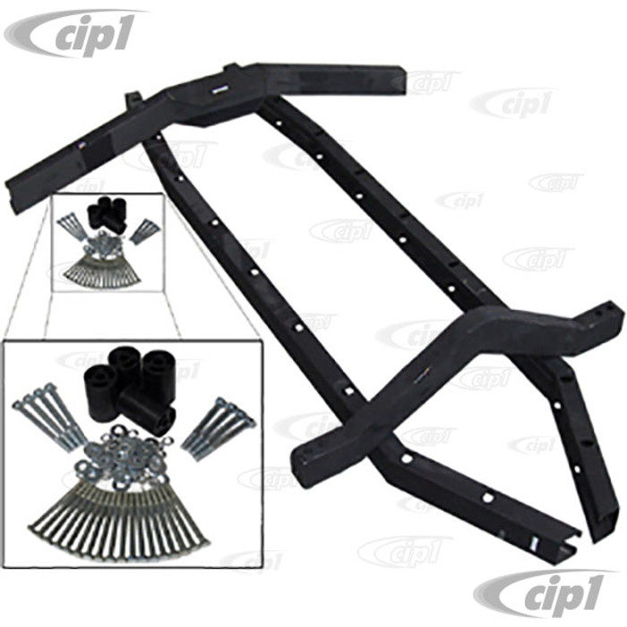 C26-701-280 - (16-9800) 3 INCH BOX TUBING STEEL BODY LIFT KIT FOR ALL STANDARD BEETLE / BAJA BUG (INCLUDES HARDWARE AND SPACERS) - SOLD KIT