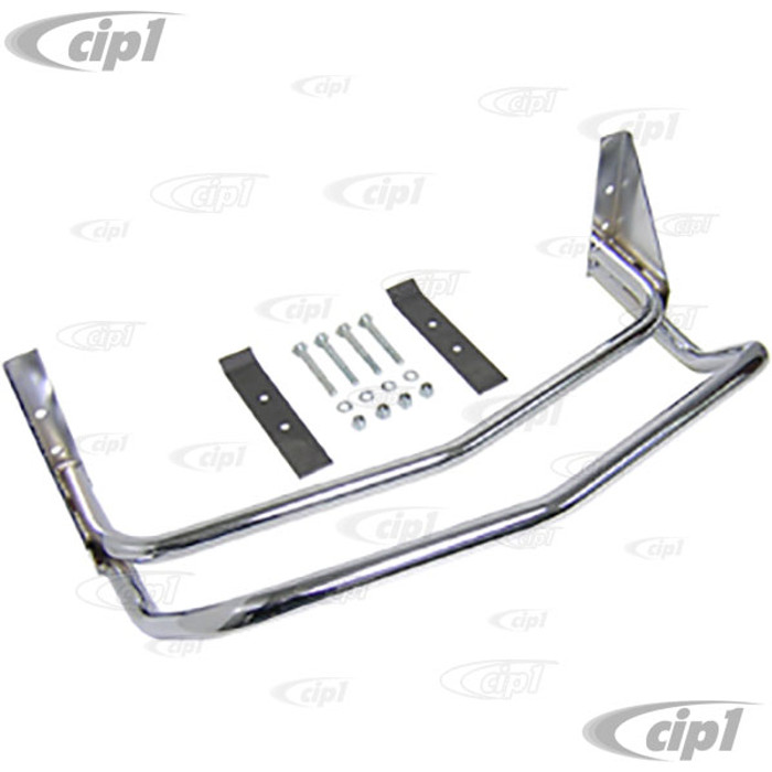 C26-707-150 - CHROME MANX STYLE BODY FRONT BUMPER - FITS ALL KING-LINK PIN FRONT BEAMS - (A25)