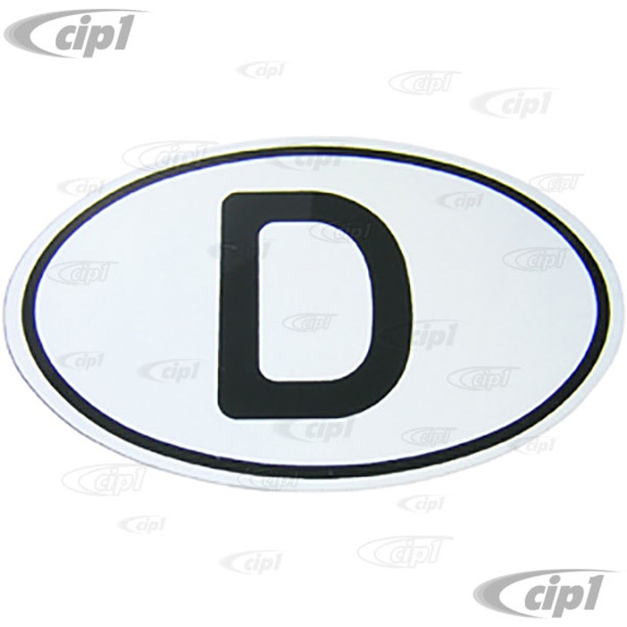 C26-707-704 - D-PLATE - METAL WITH REFLECTIVE DECAL - 6.70 X 4.45 IN. (170MMx113MM) - SOLD EACH