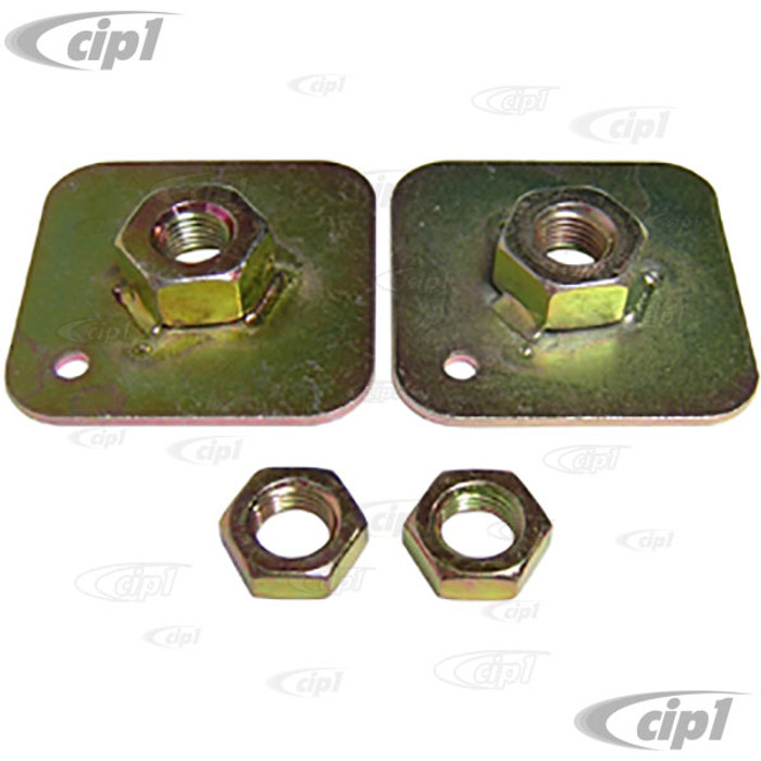 C27-SEC6814 - SEAT BELT MOUNTING PLATES WITH NUTS (REQUIRES 7/16-20 BOLTS) - PAIR