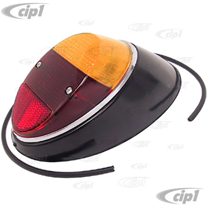 C28-111-945-096-NE - COMPLETE TAIL LIGHT ASSEMBLY WITH AMBER & RED LENS - RIGHT - BEETLE 62-67