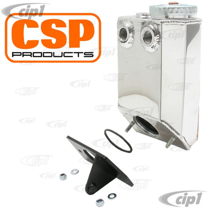 C31-115-451-100DP - POLISHED ALUMINUM OIL FILLER MOUNTED BREATHER BOX KIT - T1 1600CC STYLE ENGINE WITH ALTERNATOR (NOT GENERATOR)