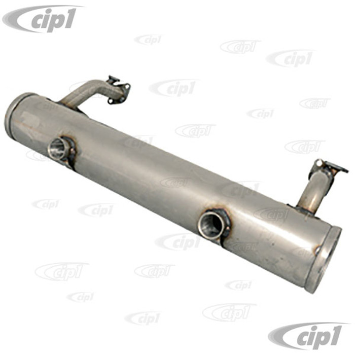 C31-251-001-050 - CSP GERMAN MADE - STAINLESS STEEL STOCK STYLE 13-1600CC MUFFLER - BEETLE  / GHIA 66-73 - SOLD EACH